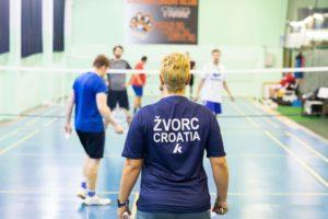 Badminton klub BK Tigar trenerica Andrea Žvorc trening