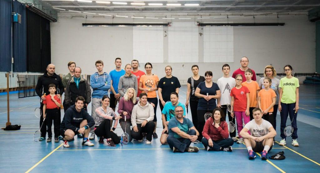 Ekipa badminton kluba Tigar Zagreb